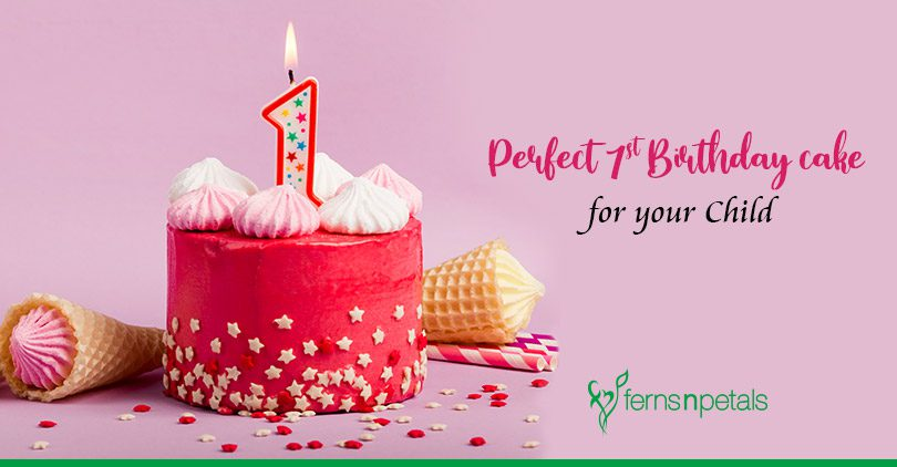 Buy Perfect Birthday Cakes online for Your Child's 1st Birthday