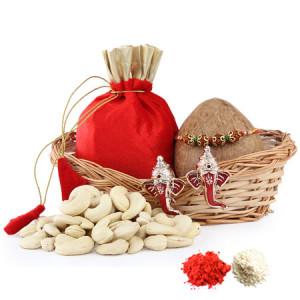 Basket Full of Rakhi Wishes
