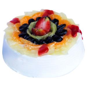 Fresh Fruit Egless Cake