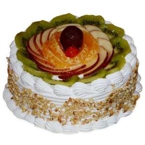 Pineapple Fruit Eggless Cake