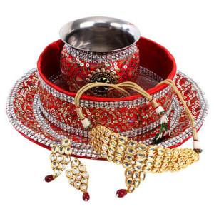 Karwa Chauth Puja Thali