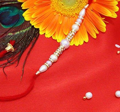 semi precious rakhi