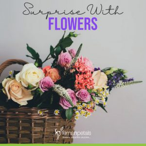 Surprise With Flowers On Birthday