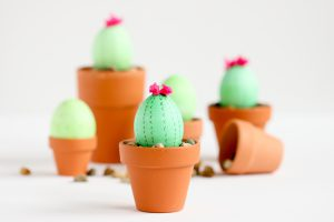 Cactus Eggs for Easter