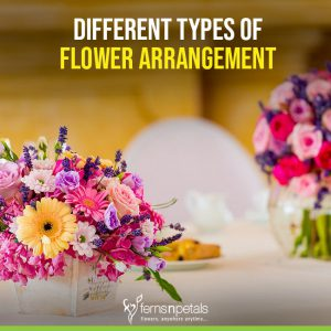 Different types of flower arrangements
