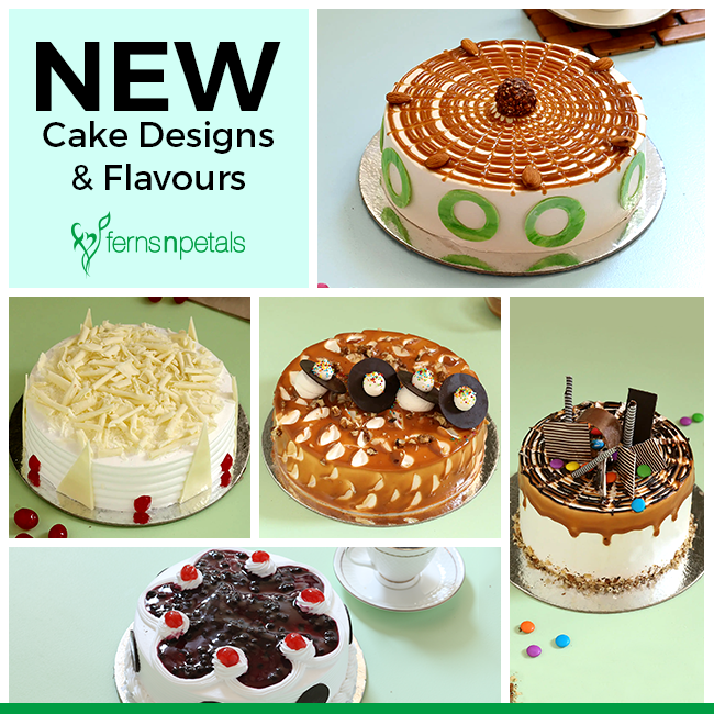 New Cake Designs and Flavors