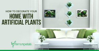 how to decorate home with artificial plants