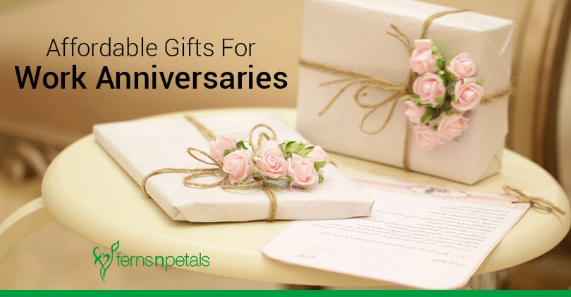 affordable work anniversary gift