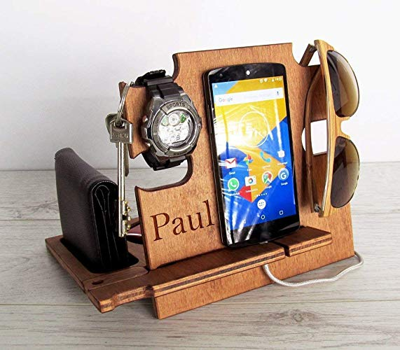 Personalised Wooden Docking Station