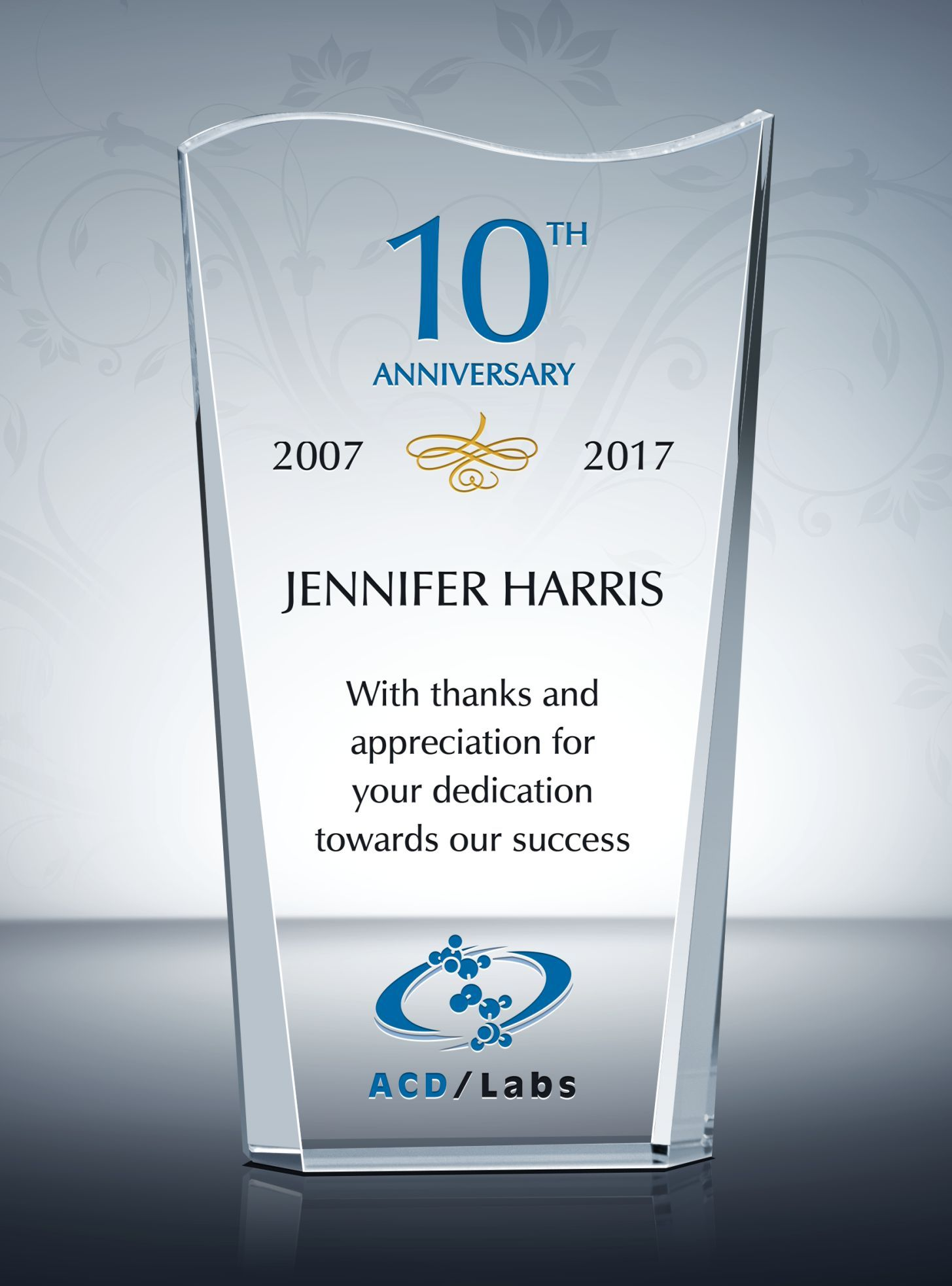 Recognition Crystal Award