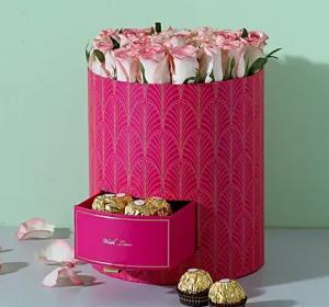Chocolates N Shaded Roses Box