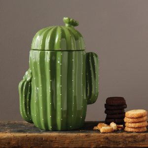 Cactus Shaped Cookie Jar