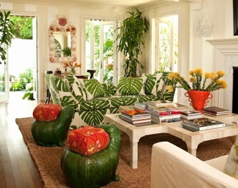 tropical theme for living room