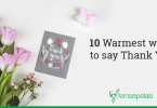 warmest ways to say thank you