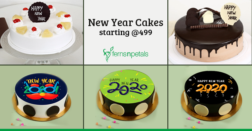 New Year cakes starting at 499