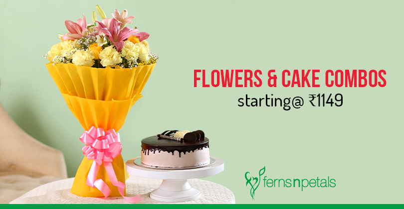 flowers and cakes starting at 1149