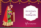 do's n don'ts of wedding gifts