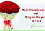 Make Occasions Special with Designer Bouquets @ 849