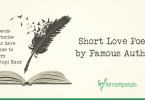 Short Love Poems by Famous Authors