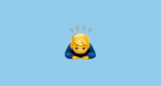Bowing Man Emoji