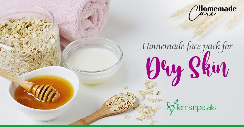 Homemade face pack for dry skin