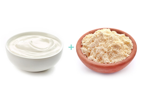 Gram Flour & Yoghurt Paste