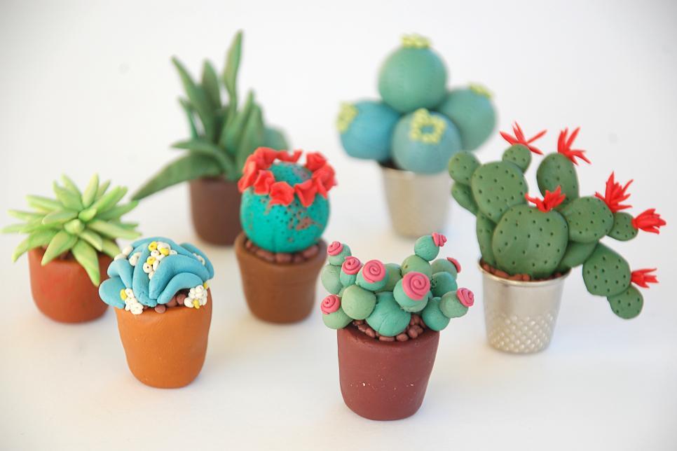 Miniature Fake Succulents