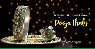 Designer Karwa Chauth Pooja Thalis under 2000