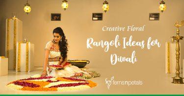 Creative Floral Rangoli Ideas for Diwali
