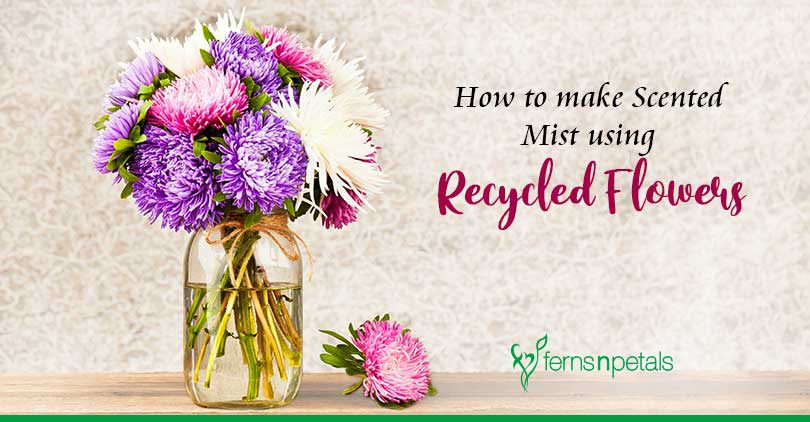 How to make Scented Mist using Recycled Flowers
