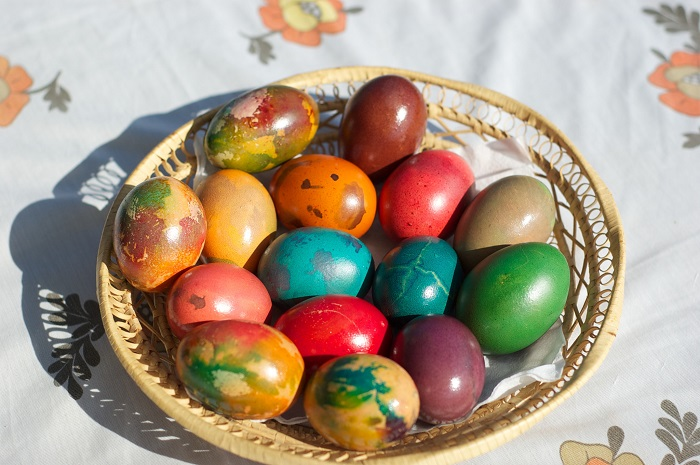 The Color of the Easter Eggs