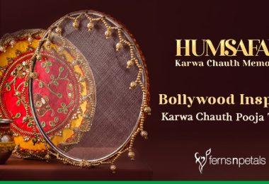 Bollywood Inspired Karwa Chauth Pooja Thalis